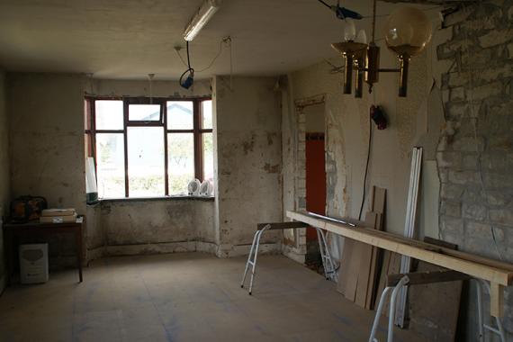 stue, renovering, ny stue, byggeri, tømrer, tømrermester, stevns, sjælland